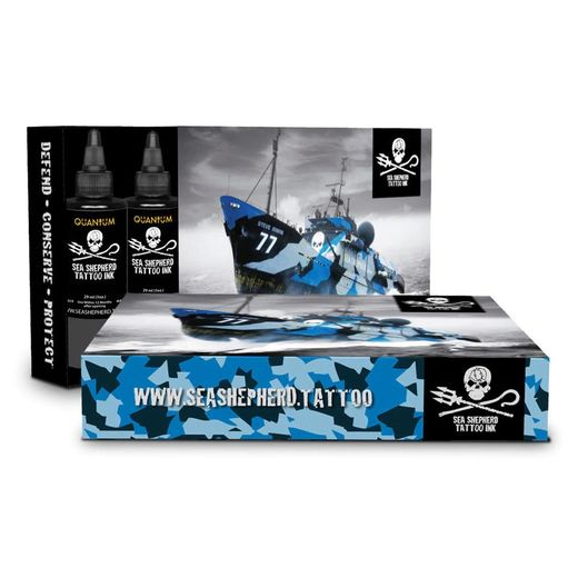 Quantum Tattoo Ink Sea Shepherd Gray Wash Set 6x30ml